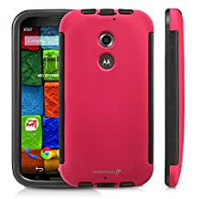 Fosmon® Motorola Moto X (2nd Gen, 2014) Case (HYBO-SNAP) Detachable Full Body Hybrid Bumper Case Cover with Bulit in Screen Protector for Motorola Moto X (2nd Gen, 2014) - Fosmon Retail Packaging (Pink)