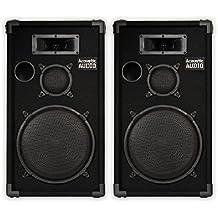 "Acoustic Audio CR12 PA Karaoke DJ 12"" Speaker Pair 1000 Watts 3 Way New CR12-Pr"