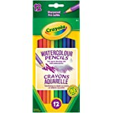 Crayola 12 Watercolour Pencils, Adult Colouring, Bullet Journaling, School and Craft Supplies, Drawing Gift for Boys and Girls, Kids, Teens Ages  5, 6,7, 8 and Up, Holiday Gifting, Stocking Stuffers, Arts and Crafts