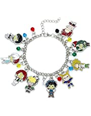 Bloomytree My Hero Academia Fashion Novelty Charm Bracelet Anime Manga Series