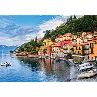 1000 Piece Large Jigsaw Puzzle - Lake Como, Italy - Puzzles for Adults and Teens - 29 x 20 Inches