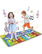 LEADSTAR Pianomat, Vloertoetsenbord Groot Multifunctioneel Muzikaal Speelgoed Speelmatten Muziek Zangactiviteit Gymnastiek Tapijt Speelmat Touch Piano Toetsenbord Cadeau voor kinderen Baby Peuter Muziekmat, 130 x 48 cm