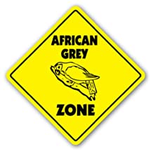 AFRICAN GREY ZONE Sign xing gift novelty bird parrot cage talking mirror