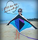 Best Rainbow Delta Kite, Easy Fly for Kids and