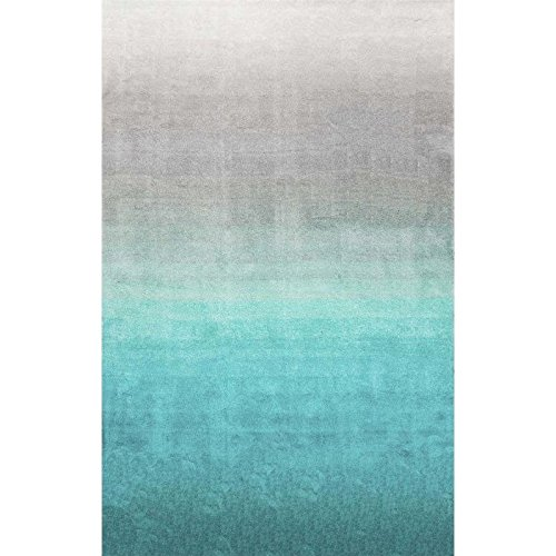 Handmade Soft and Plush Ombre Shag Area Rugs, 8′ x 10′, Turquoise