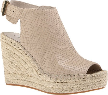 Kenneth Cole Womens Olivia Perf Leather Open Toe Casual, Beige/Clay, Size 8.5 B06XYL5YDQ Parent