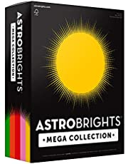 "Astrobrights Mega Collection, Colored Cardstock, ""Retro"" 5-Color Assortment, 320 Sheets, 65 lb/176 gsm, 8.5"" x 11"" (91688)"