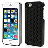 iAnko Cute Decompression Bubble Wrap Shell Puchi Puchi Soft Silicone Phone Case for Apple Iphone 5 5s (black)