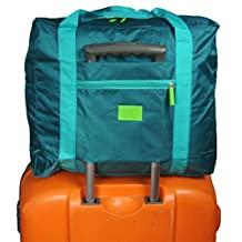 Lightweight Folding Duffel Bag Portable Storage Shopping and Travel Luggage Bag (green)
