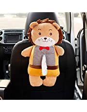 Qeepenl Creative Car Tissue Box Car Drawer Tray Cartoon Car Seat Hanging Napkin Box Car Supplies Cartoon Cute Easy To Install Washable