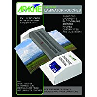 Apache 7 Mil Letter Size (9 x 11.5) Crystal Clear Universal Thermal Laminating Pouches, 100 Count
