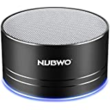 Portable Bluetooth Speakers,NUBWO Wireless Mini Speakers,Richer Sound and Bass,TF Crad Slot,3.5mm AUX,Build-in Microphone for Iphone/Andriod/Tablet(Black)