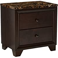 Coaster Home Furnishings Conner Transitional Faux Marble Top Two Drawer Nighstand