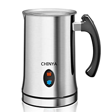 Milk Frother, Automatic Milk Steamer with New Foam Density Feature, Electric Frother with Hot or Cold Milk Function for Coffee, Cappuccino and Breakfast