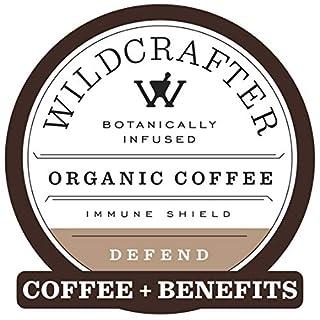 Wildcrafter Botanicals Organic Coffee K Cups - Herbal Immune Booster Infused with Elderberry, Astragalus Root & Reishi Mushroom Blend. 12 Dark Roast Pods - Compatible with K-Cup Brewers & Keurig 2.0