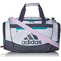 Adidas Defender III Duffel Bag ( White Jersey/Onix/Clear Lilac Purple/Hi-Res Aqua)