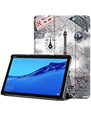 The tower PU Leather Case Cover 10.1 Inch Slim Print Smart Tablet PC Funda For Huawei MediaPad M5 Lite 10 Shockproof Skin
