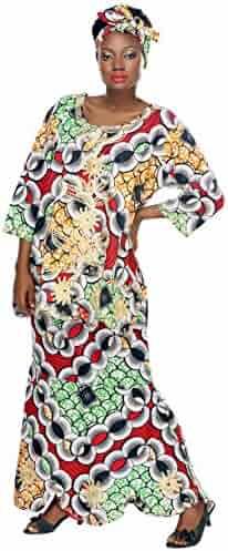 981ec8067bad5 African Planet Women s Ethnic Nigerian Drawstring Skirt and Gele Headwrap