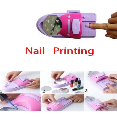 DIY Nail Manicure Art Colors Printing Printer Stamper for sale  Delivered anywhere in USA