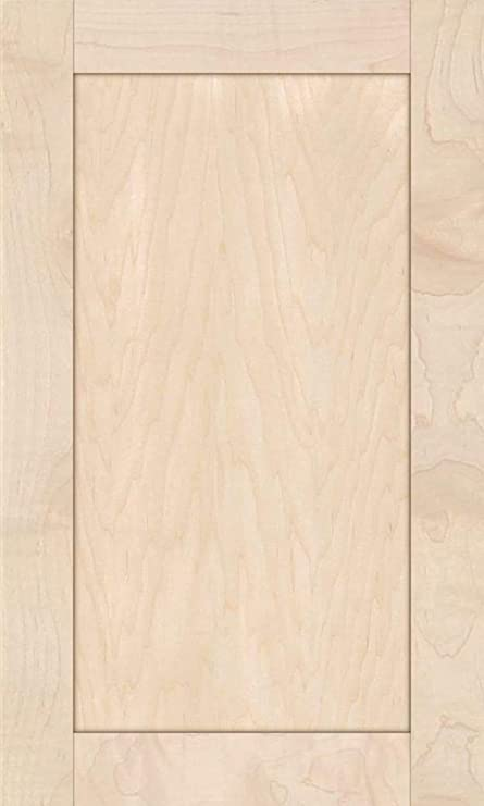 19H x 17W Unfinished Oak Square Flat Panel Cabinet Door by Kendor