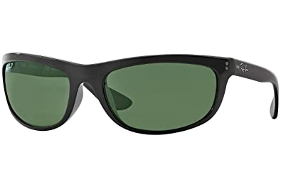 e5987e77384 Image Unavailable. Image not available for. Color  RayBan RB4089 601 58  Size 62 Balorama Black Crystal Green Polarized Sunglasses