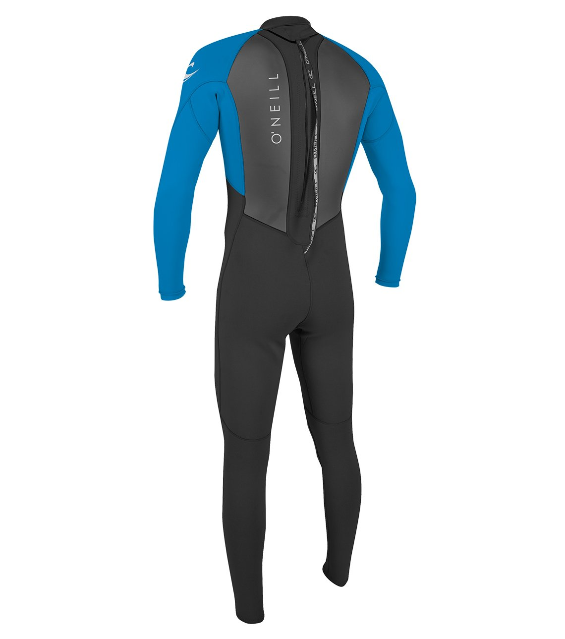 O'Neill Men's Reactor II 3/2mm Back Zip Full Wetsuit, Black/Ocean, Medium by O'Neill Wetsuits (Image #2)