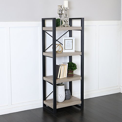 Black Antique Cabinet Media (WE Furniture 62