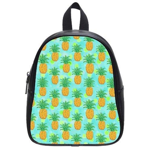 New Cute Pineapple Kid's School Bag Fruit PU leather Backpack