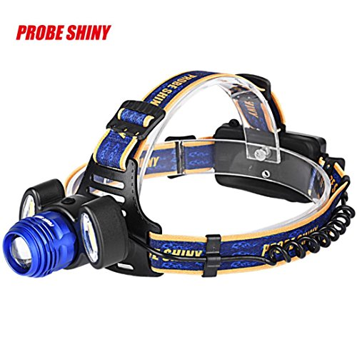 Headlamp, Han Shi Head Lights, 15000LM 3x XM-L T6, Waterproof, Rechargeable with USB+Car Charger (With Batteries) (Chevy S10 Truck Tail Lamp)