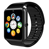 YASSUN Sweatproof Watch Monitor Smart Watch Phone for iPhone 5s/6/6s and 4.2 Android or Above SmartPhones-Black