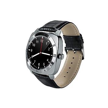 Prom-note X3 Reloj Inteligente con Cámara/Ranura de Tarjeta SIM, Reloj Deportivo,Pantalla táctil HD de 1.3 Pulgadas,380mAh batería,Pulsera de Cuero de ...