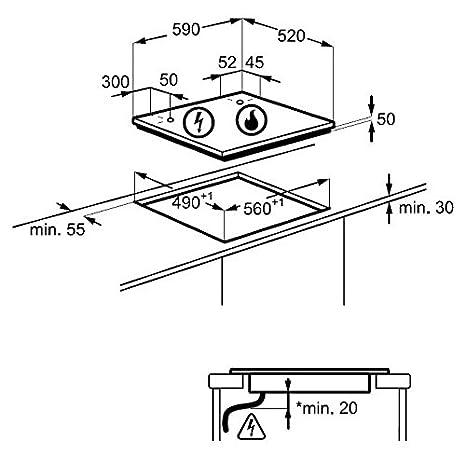 AEG - HD 634170 NB - Encimera de cocina mixta a inducción y ...