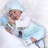 NPK 22 inch Lifelike Reborn Baby Doll Girl Baby Silicone Doll Girls Kids Gift