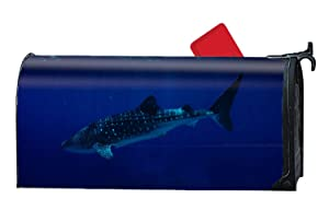 XW-FGF Philippines South China Sea Sharks Whale Sharks Tourism Diving Underwater Blue Sea Magnetic Mailbox Cover Welcome Seasons Mailbox Wrap Standard