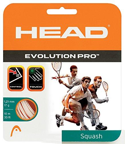 HEAD Evolution Pro 17 Squash String White