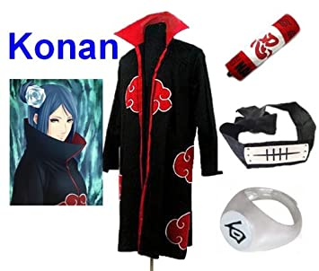 Sunkee Traje de Cosplay para cosplay Naruto Akatsuki Konan ...