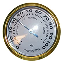 Large Round Analog Glass Hygrometer - Dimensions (Outside): 3 3/8'