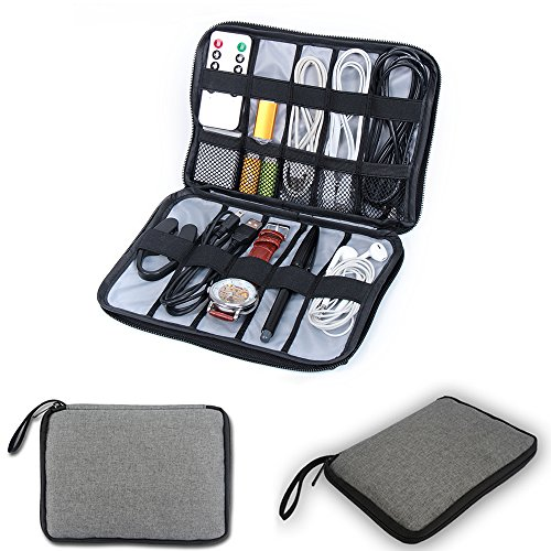 YIER Travel Electronics Accessories Organizer Universal Cable Storage Bag