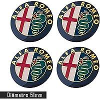 Jogo 4 Emblema Roda Alfa Romeo 51 mm