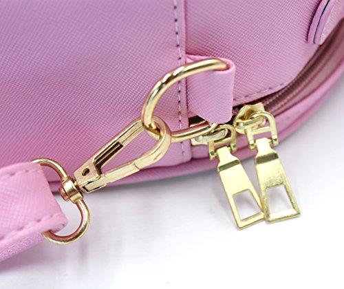 Handbag Cat Printed Bag Women Adjustable Top Satchel Cute Bag Crossbody Pink Handle Detachable Shoulder AqZq50wf