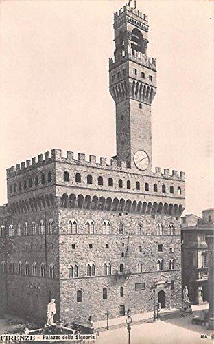 (Palazzo della Signoria Firenze, Real Photo Italy Postcard)