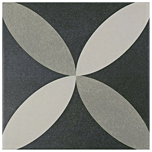 SomerTile FRC8TWEP Fifties Ceramic Floor and Wall Tile, 7.75