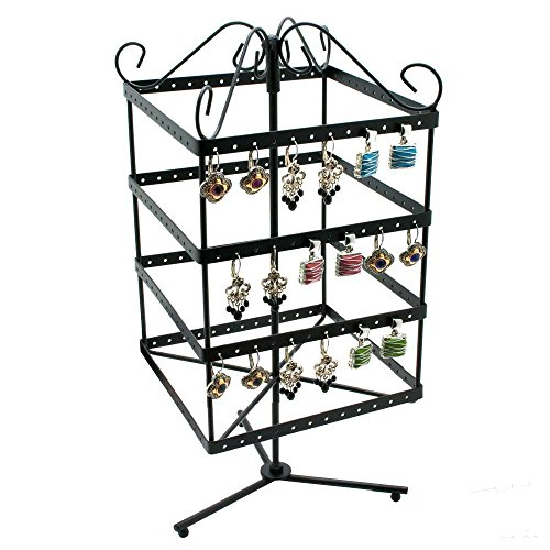 Rotating Metal Earring Stand (Wire Earrings Square)