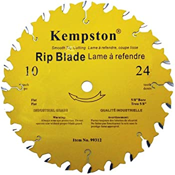 Kempston 99312 10-Inch by 24 Tooth Industrial Rip Thick Kerf Blade with 5/8-Inch Arbor