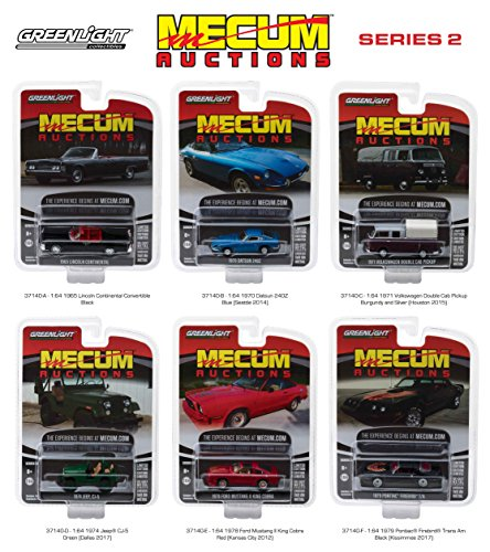 Mecum Auctions Collector Cars Series 2 6pc Set 1/64 Diecast Model Cars by Greenlight (Diecast Collector Set)