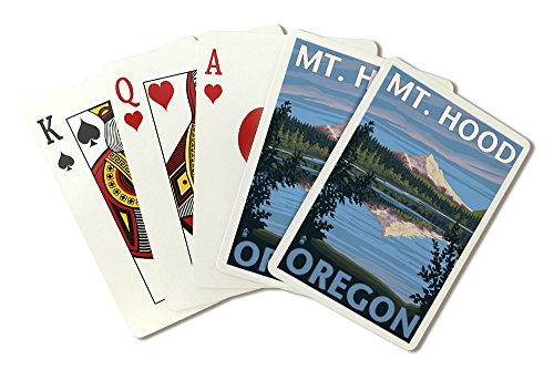 Lost Lake, Oregon - Mt. Hood (Playing Card Deck - 52 Card Poker Size with Jokers) by Lantern Press