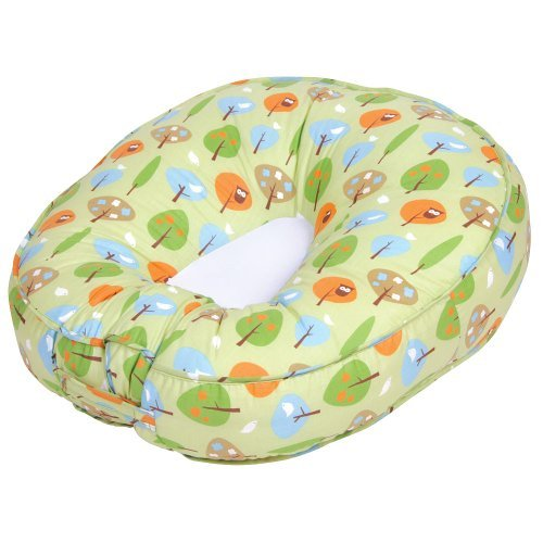 Leachco Podster Sling-Style Baby Lounger in Green Forest Frolics from Leachco
