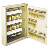 STEELMASTER 201911003 Uni-Tag Key Cabinet, 110-Key,Steel, Sand, 14 x 3 1/8 x 17 1/8