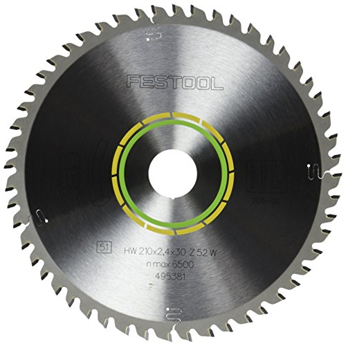 Festool 495381 Fine Tooth Cross-Cut Saw Blade For TS 75 Plunge Cut Saw - 52 Tooth (Thin Cross Cut Fine Kerf)