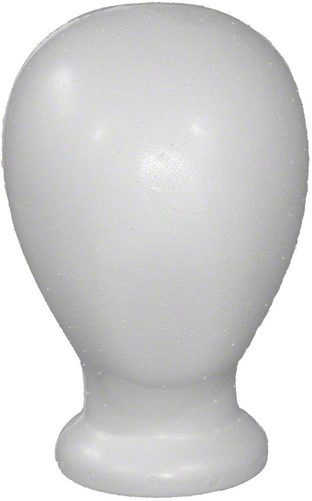 Styrofoam White Blank Unisex Head
